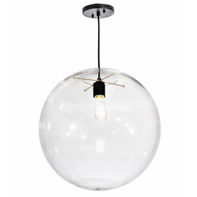 2nd Ave Lighting Pendants Textured Black/Champagne Metallic / Crystal Idalight / Acrylic Bola Pendant By 2nd Ave Lighting 195612