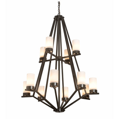 2nd Ave Lighting Chandeliers Gilded Tobacco / Clear Hurricane Glass Calista Chandelier By 2nd Ave Lighting 200630
