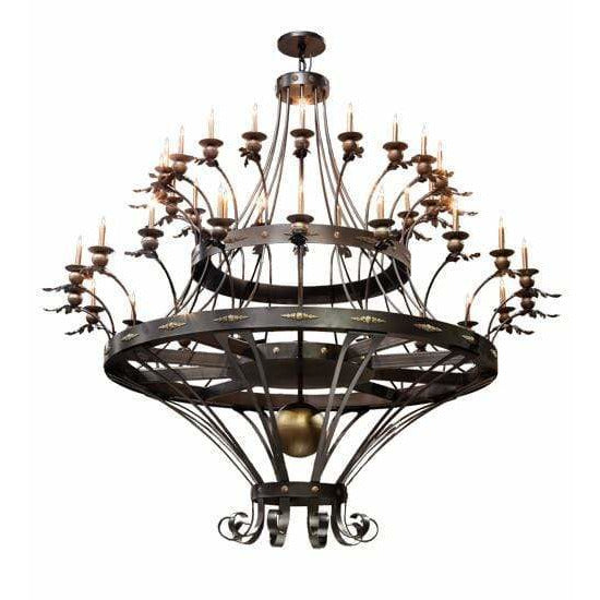 2nd Ave Lighting Chandeliers Ext .Oil Rubbed Bronze/Royal Bronze Highlight Chloe Chandelier By 2nd Ave Lighting 198967