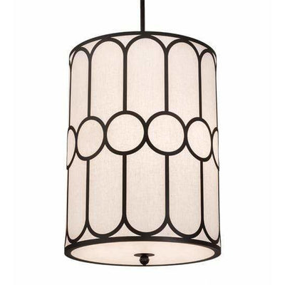 2nd Ave Lighting Pendants Textured Black / White Textrene/Statuario Idalight Cilindro Pendant By 2nd Ave Lighting 196023