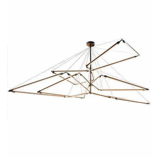 2nd Ave Lighting Chandeliers Antique Copper / Clear Frosted Acrylic / Glass Fabric Idalight Isotope Chandelier By 2nd Ave Lighting 174928