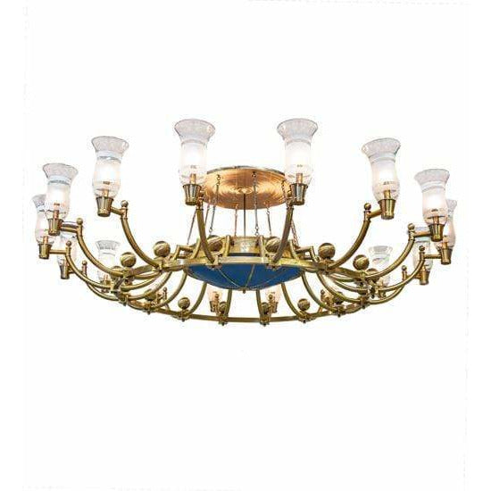 2nd Ave Lighting Chandeliers Brass/Black Hills Gold / Clear & Frosted/Custom Blue Idalight / Glass/Acrylic Kahe Chandelier By 2nd Ave Lighting 191799