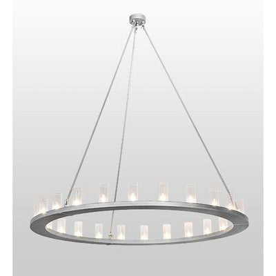 2nd Ave Lighting Pendants Weatherable Silver / Clear Seeded Glass Loxley Pendant By 2nd Ave Lighting 196702