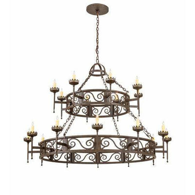 2nd Ave Lighting Chandeliers Classic Rust Majella Chandelier By 2nd Ave Lighting 201849