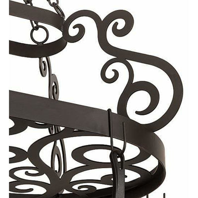 2nd Ave Lighting Pot Racks Oil Rubbed Bronze / Glass Fabric Idalight Neo Pot Rack By 2nd Ave Lighting 197433