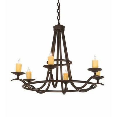 2nd Ave Lighting Chandeliers Mahogany Bronze Octavia Chandelier By 2nd Ave Lighting 196944
