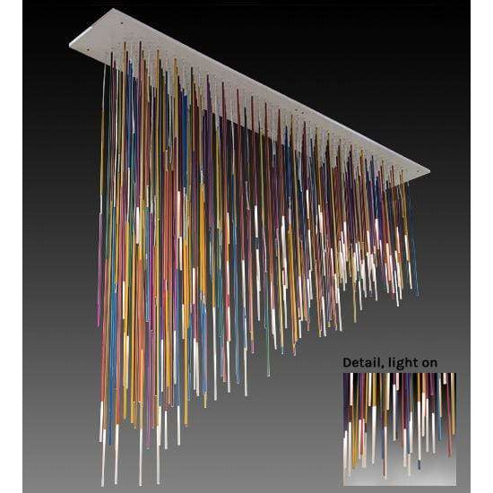 2nd Ave Lighting Chandeliers Glass Fabric Idalight Pae Kukuna Chandelier By 2nd Ave Lighting 172710
