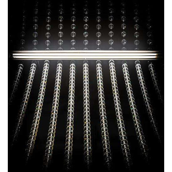 2nd Ave Lighting Led Nickel Powder Coat / Crystal / Glass Fabric Idalight Rainbow Ridge Led By 2nd Ave Lighting 175124