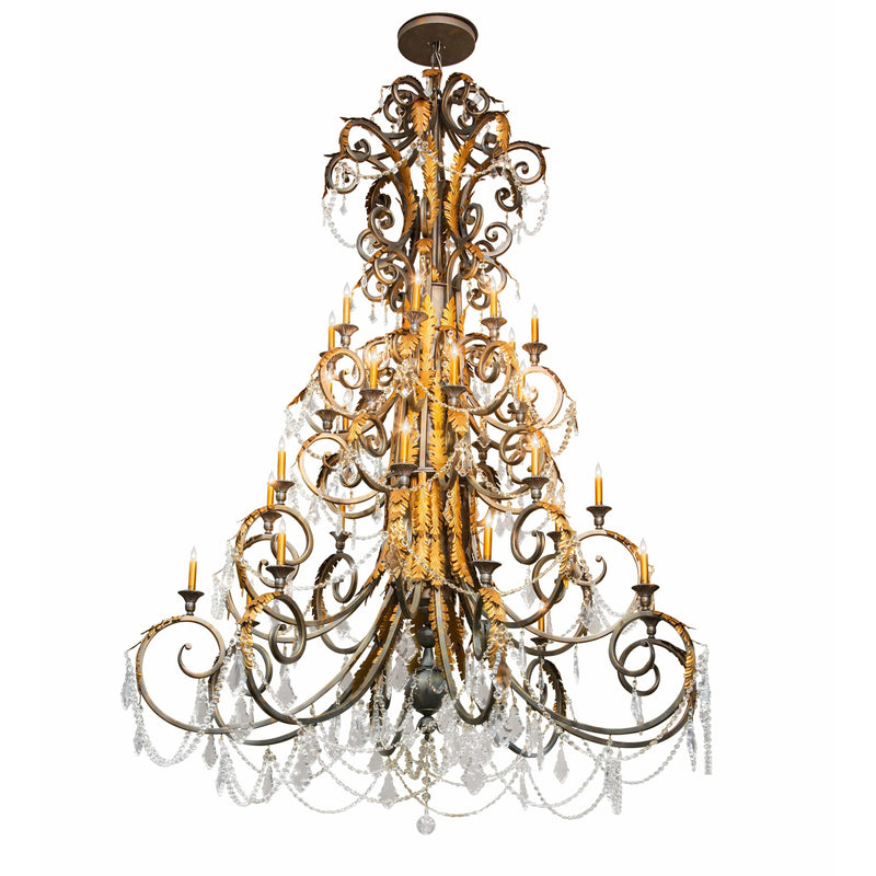 2nd Ave Lighting Chandeliers French Bronze / Crystal Serratina Chandelier By 2nd Ave Lighting 213272