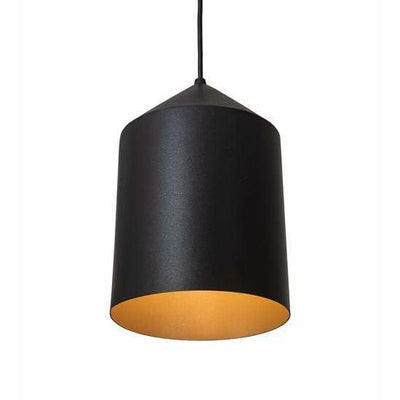 2nd Ave Lighting Pendants Black Textured/Champagne Metallic Silo Pendant By 2nd Ave Lighting 195606