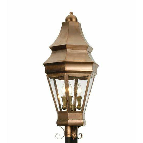 2nd Ave Lighting Post Mount Raw Copper / Clear / Glass Fabric Idalight Statesboro Post Mount By 2nd Ave Lighting 21975