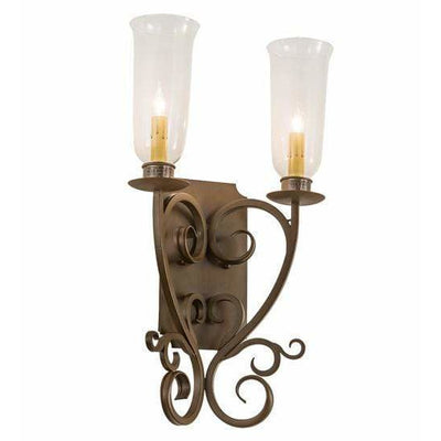 2nd Ave Lighting Two Lights Rustic Iron / Clear Hurricane Glass Thierry Two Light By 2nd Ave Lighting 200021