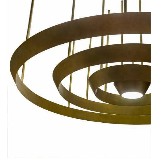 2nd Ave Lighting Pendants Gold Matte / Frosted Glass / Glass Fabric Idalight Zarkov Pendant By 2nd Ave Lighting 172709