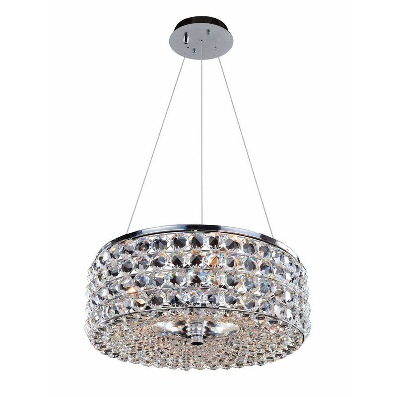 Allegri by Kalco Lighting Pendants Chrome / Firenze Clear Arche 16 Inch Pendant From Allegri by Kalco Lighting 11751