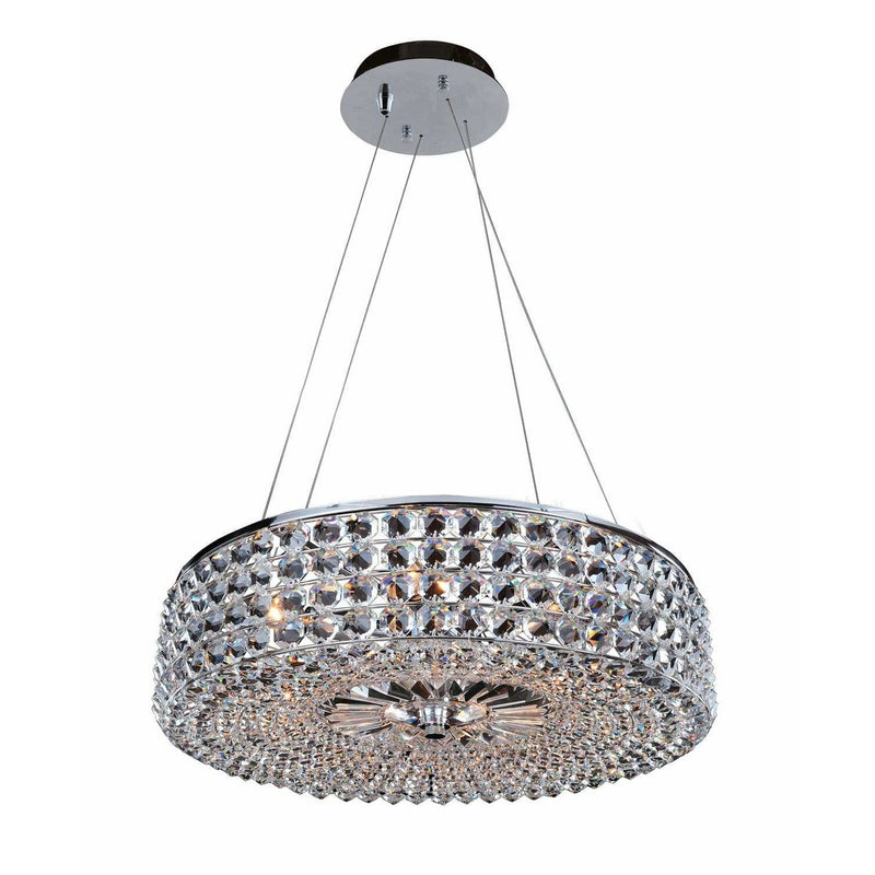 Allegri by Kalco Lighting Pendants Chrome / Firenze Clear Arche 24 Inch Pendant From Allegri by Kalco Lighting 11752