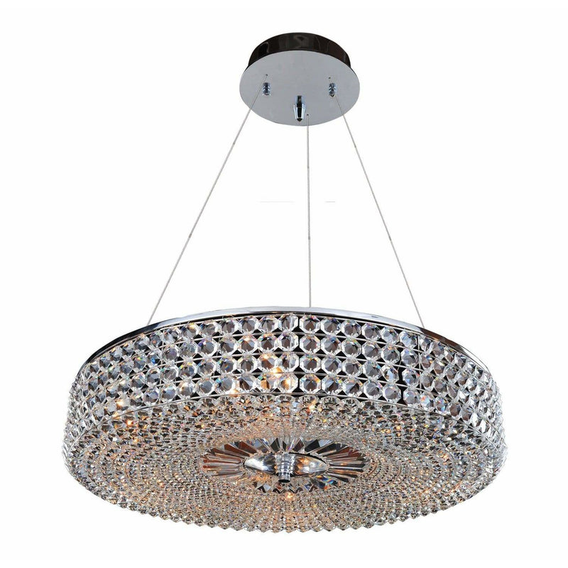 Allegri by Kalco Lighting Pendants Chrome / Firenze Clear Arche 32 Inch Pendant From Allegri by Kalco Lighting 11753