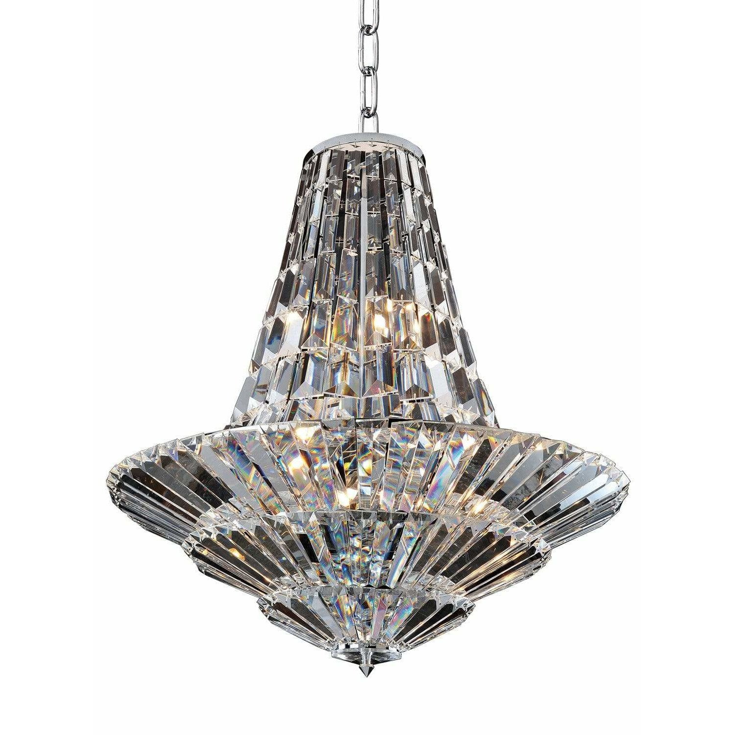 Allegri by Kalco Lighting Chandeliers Chrome / Firenze Clear Auletta 12 Light Chandelier From Allegri by Kalco Lighting 11425