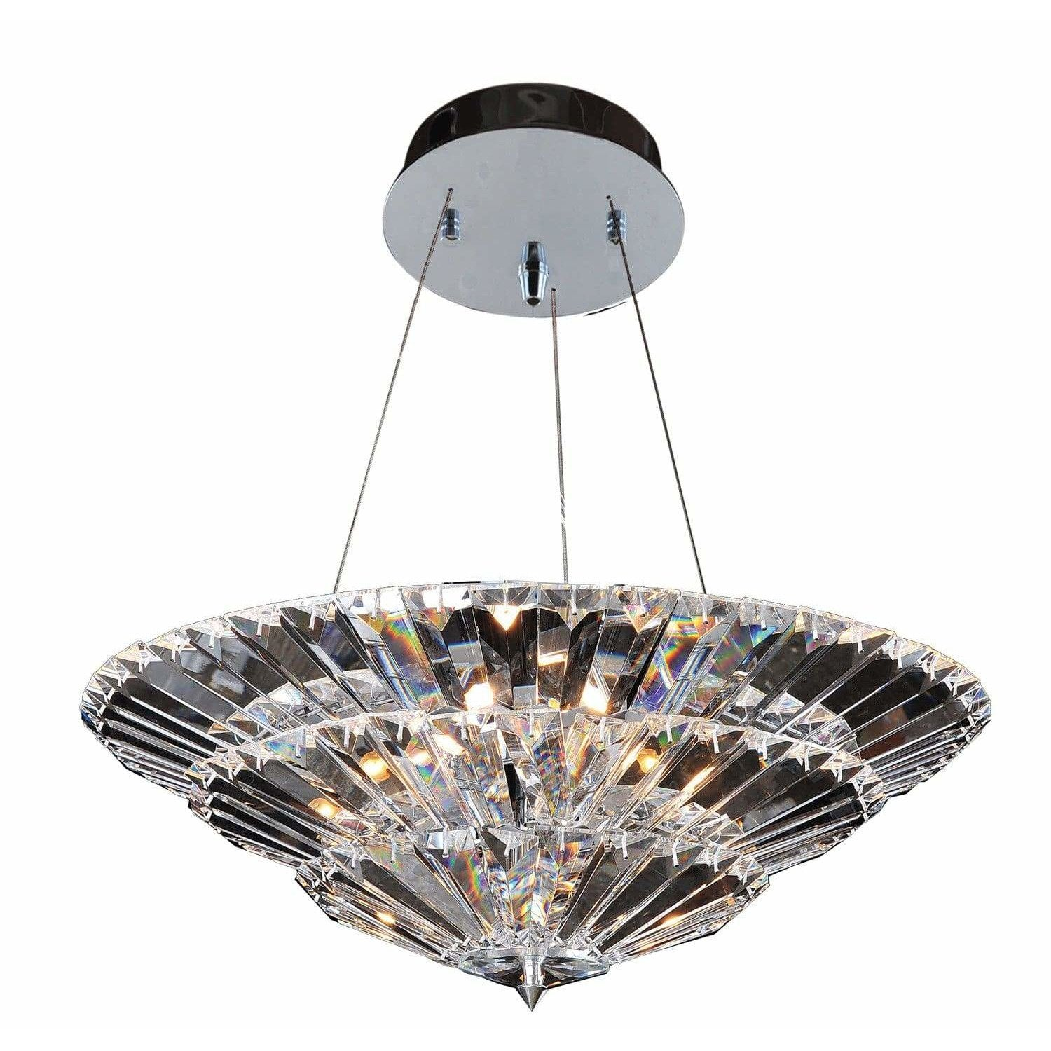 Allegri by Kalco Lighting Dual Mounts Chrome / Firenze Clear Auletta 24 Inch Convertible Pendant - Semi Flush Mount From Allegri by Kalco Lighting 11426