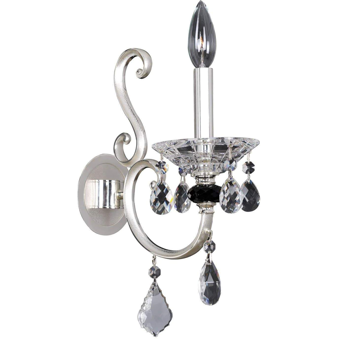 Allegri by Kalco Lighting Wall Sconces Two Tone Silver / Firenze Clear Bedetti 1 Light Wall Bracket From Allegri by Kalco Lighting 10164
