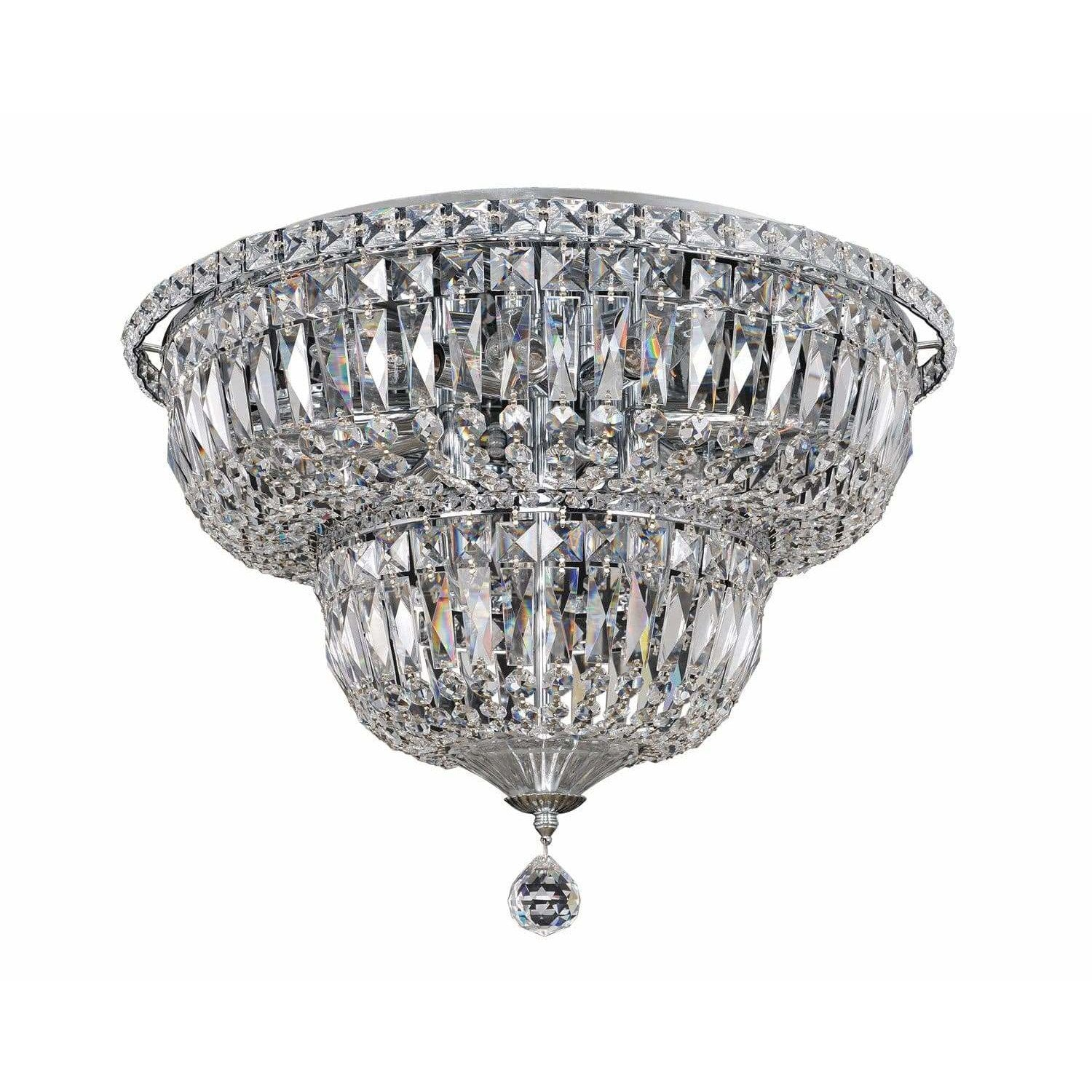 Allegri by Kalco Lighting Flush Mounts Chrome / Firenze Clear Betti 12 Light Flush Mount From Allegri by Kalco Lighting 020245