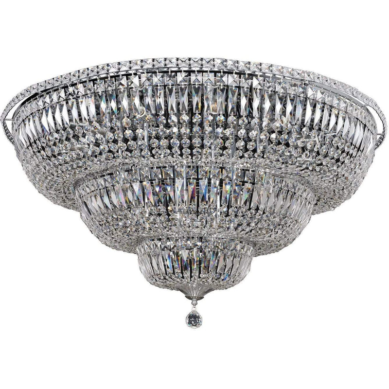 Allegri by Kalco Lighting Flush Mounts Chrome / Firenze Clear Betti 22 Light Flush Mount From Allegri by Kalco Lighting 020247