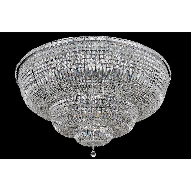 Allegri by Kalco Lighting Flush Mounts Chrome / Firenze Clear Betti 30 Light Flush Mount From Allegri by Kalco Lighting 020248