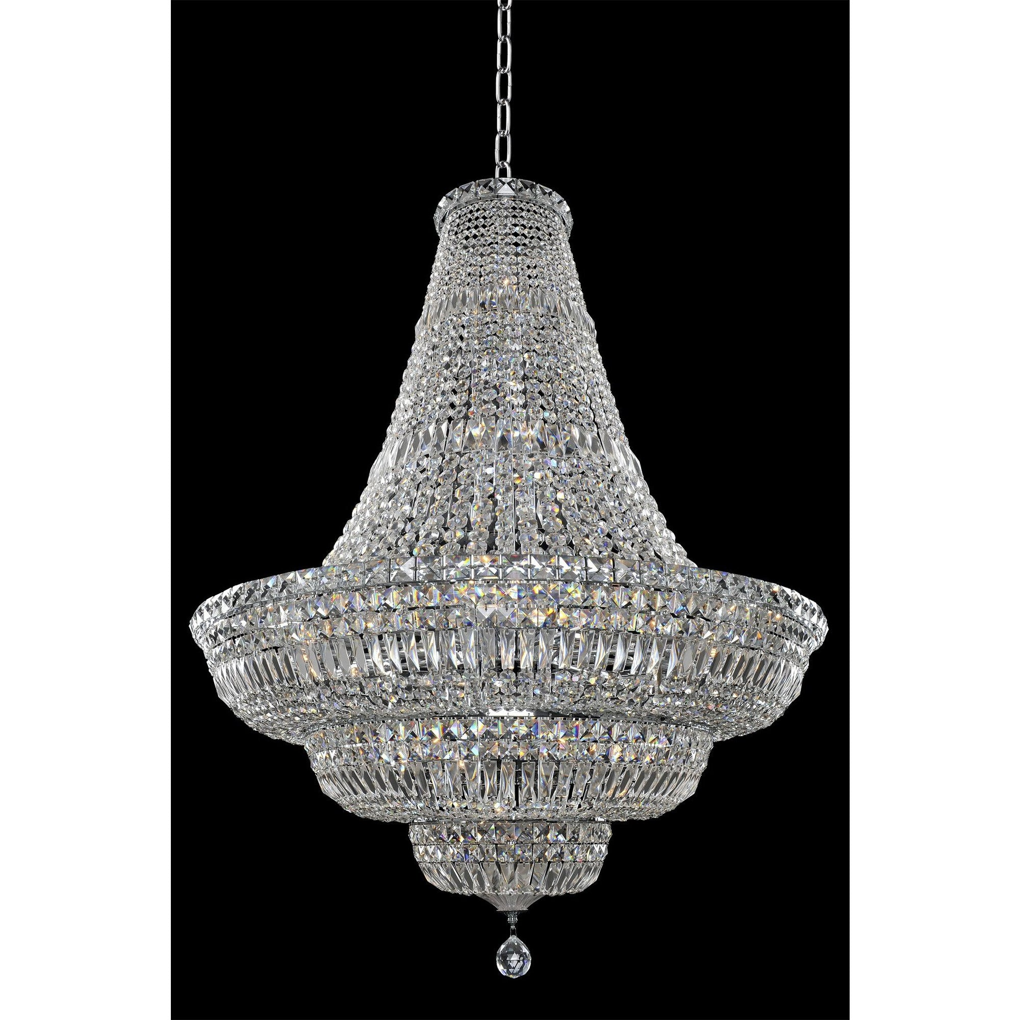 Allegri by Kalco Lighting Pendants Chrome / Firenze Clear Betti 36 Inch Pendant From Allegri by Kalco Lighting 020271