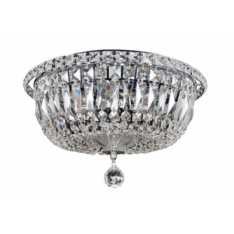 Allegri by Kalco Lighting Flush Mounts Chrome / Firenze Clear Betti 6 Light Flush Mount From Allegri by Kalco Lighting 020244