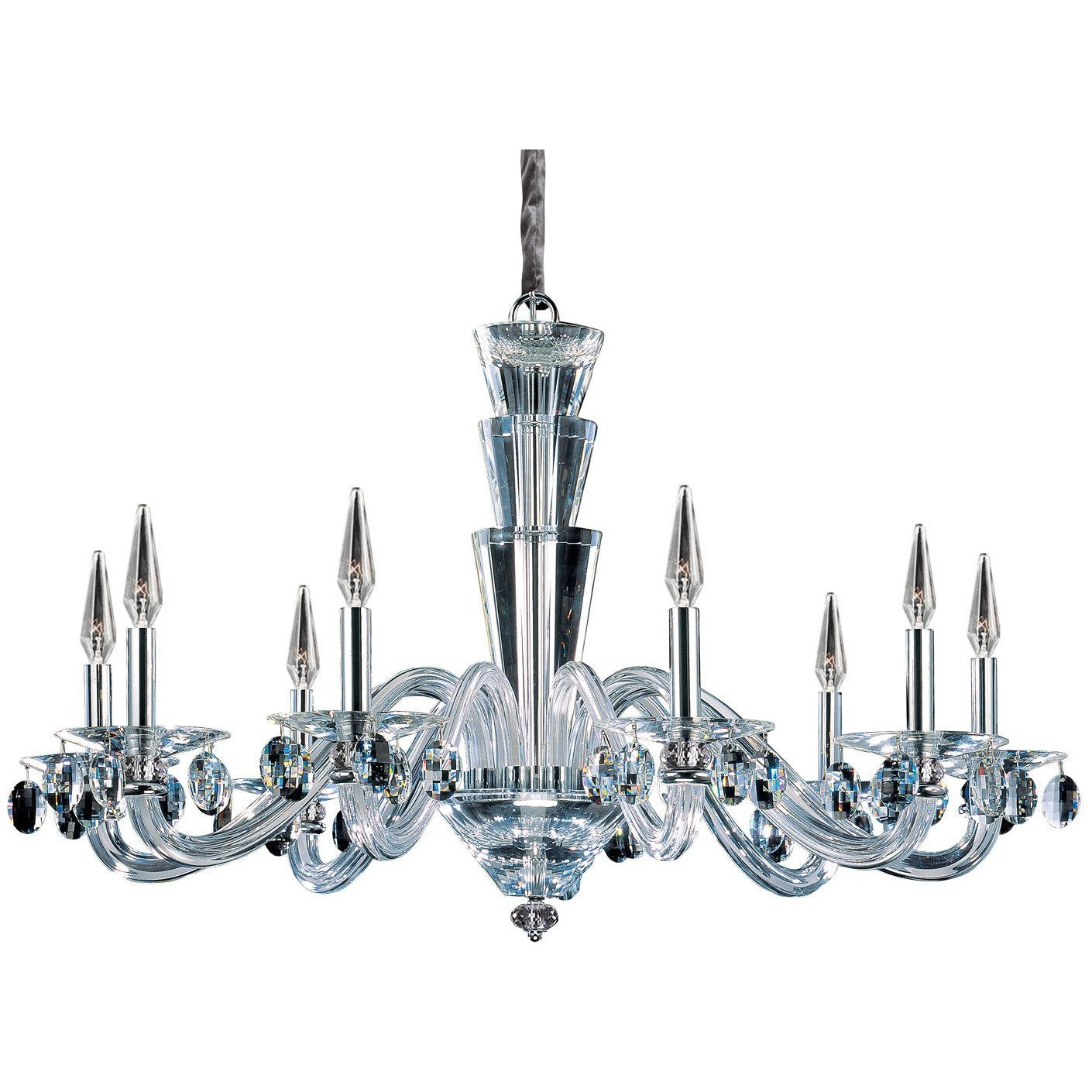 Allegri by Kalco Lighting Chandeliers Chrome / Firenze Clear Fanshawe 9 Light Chandelier From Allegri by Kalco Lighting 11529