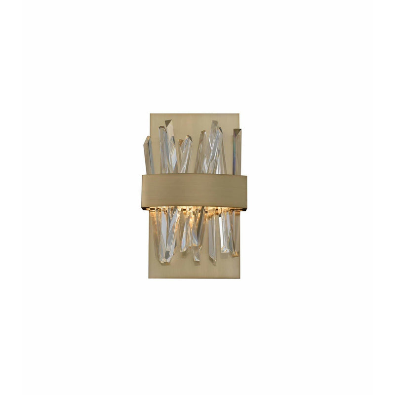 Allegri by Kalco Lighting Wall Sconces Brushed Champagne Gold / Firenze Crystal Spears Glacier LED ADA Wall Sconce From Allegri by Kalco Lighting 030220