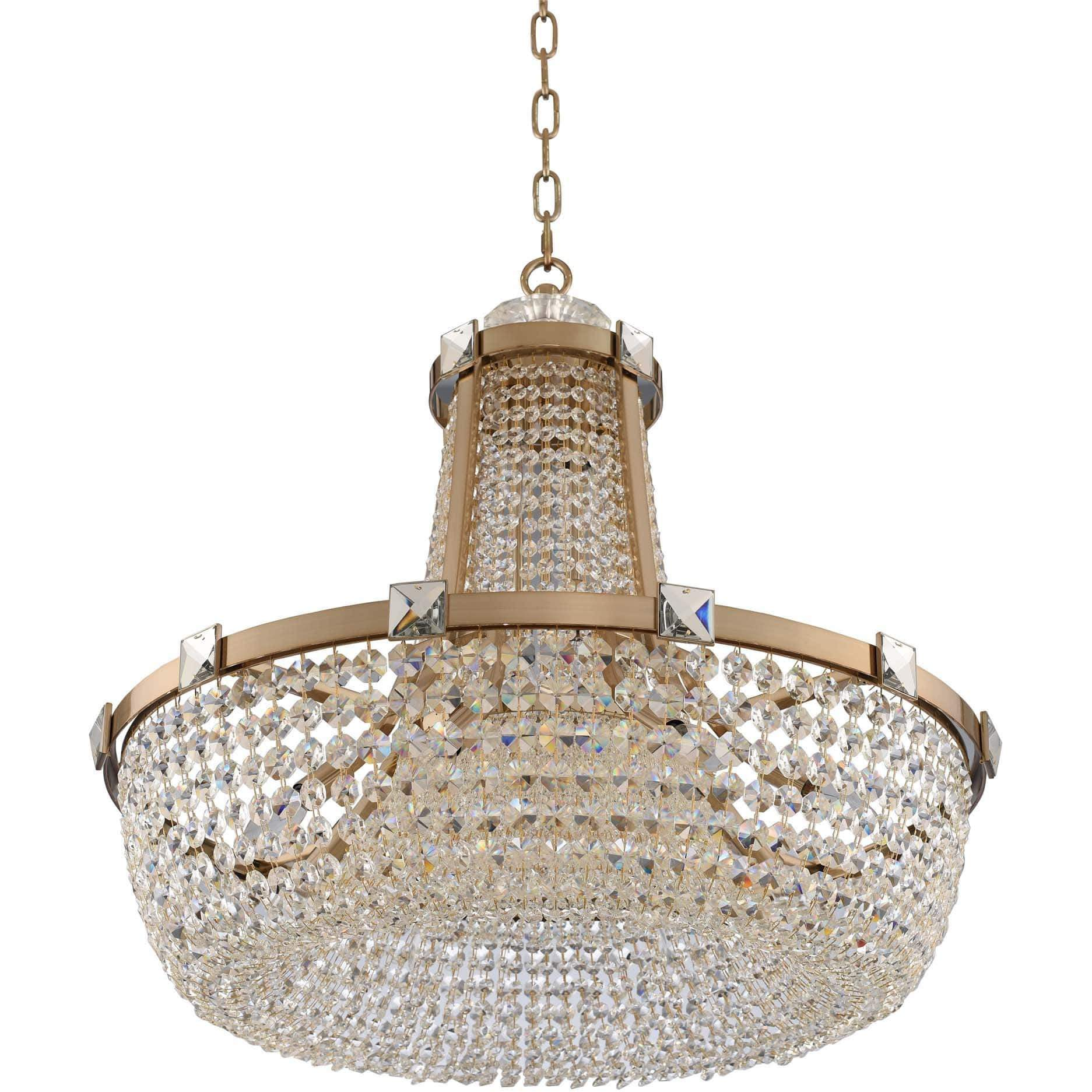 Allegri by Kalco Lighting Pendants Brushed Champagne Gold / Firenze Clear Impero 30 Inch Pendant From Allegri by Kalco Lighting 027950