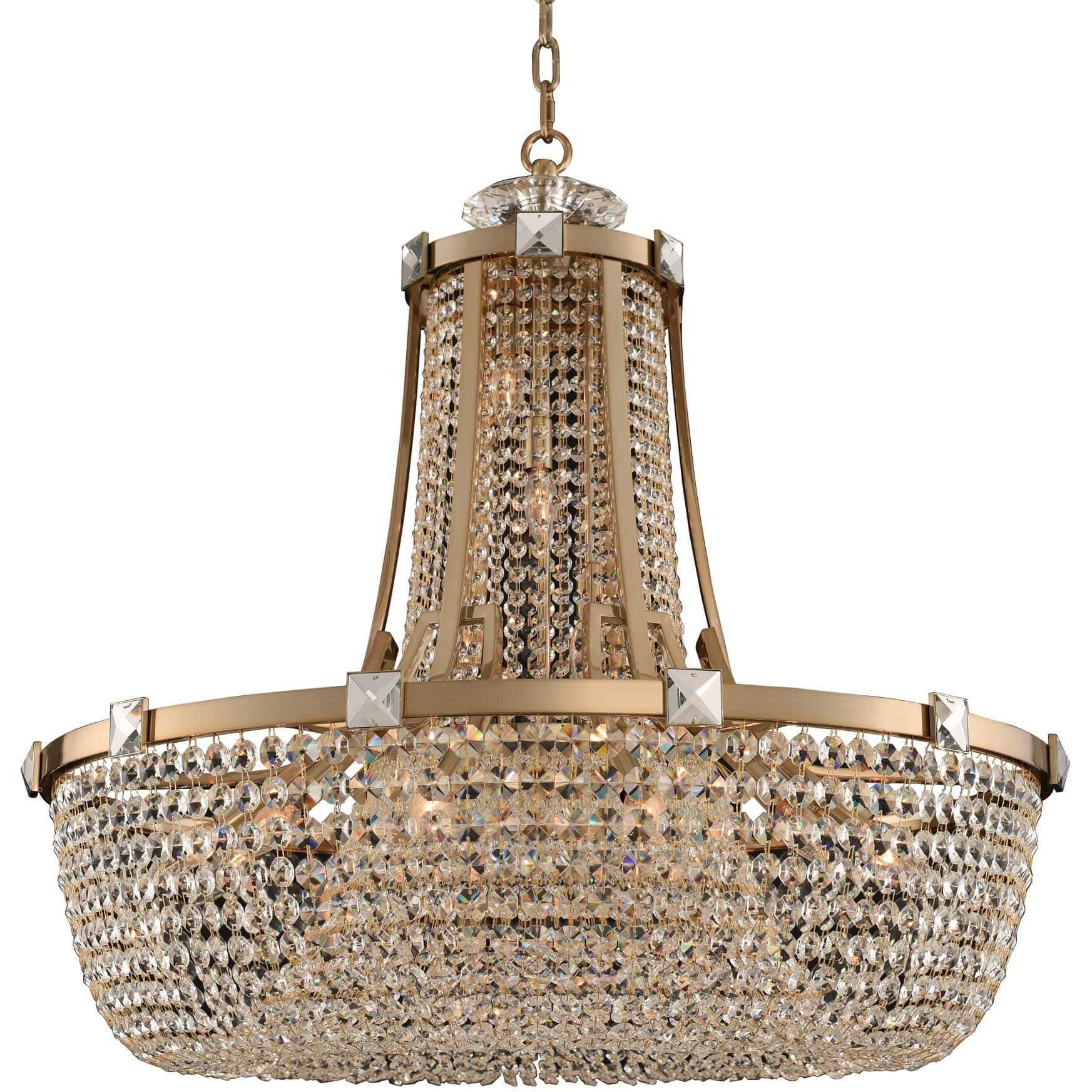 Allegri by Kalco Lighting Pendants Brushed Champagne Gold / Firenze Clear Impero 36 Inch Pendant From Allegri by Kalco Lighting 027951