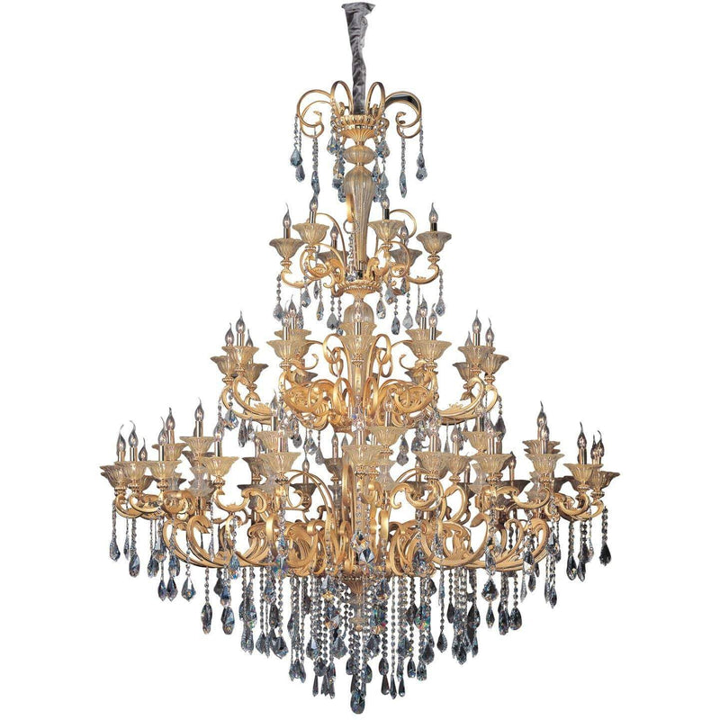 Allegri by Kalco Lighting Chandeliers Two Tone Gold - 24K / Firenze Clear Legrenzi 66 Light Chandelier From Allegri by Kalco Lighting 10455