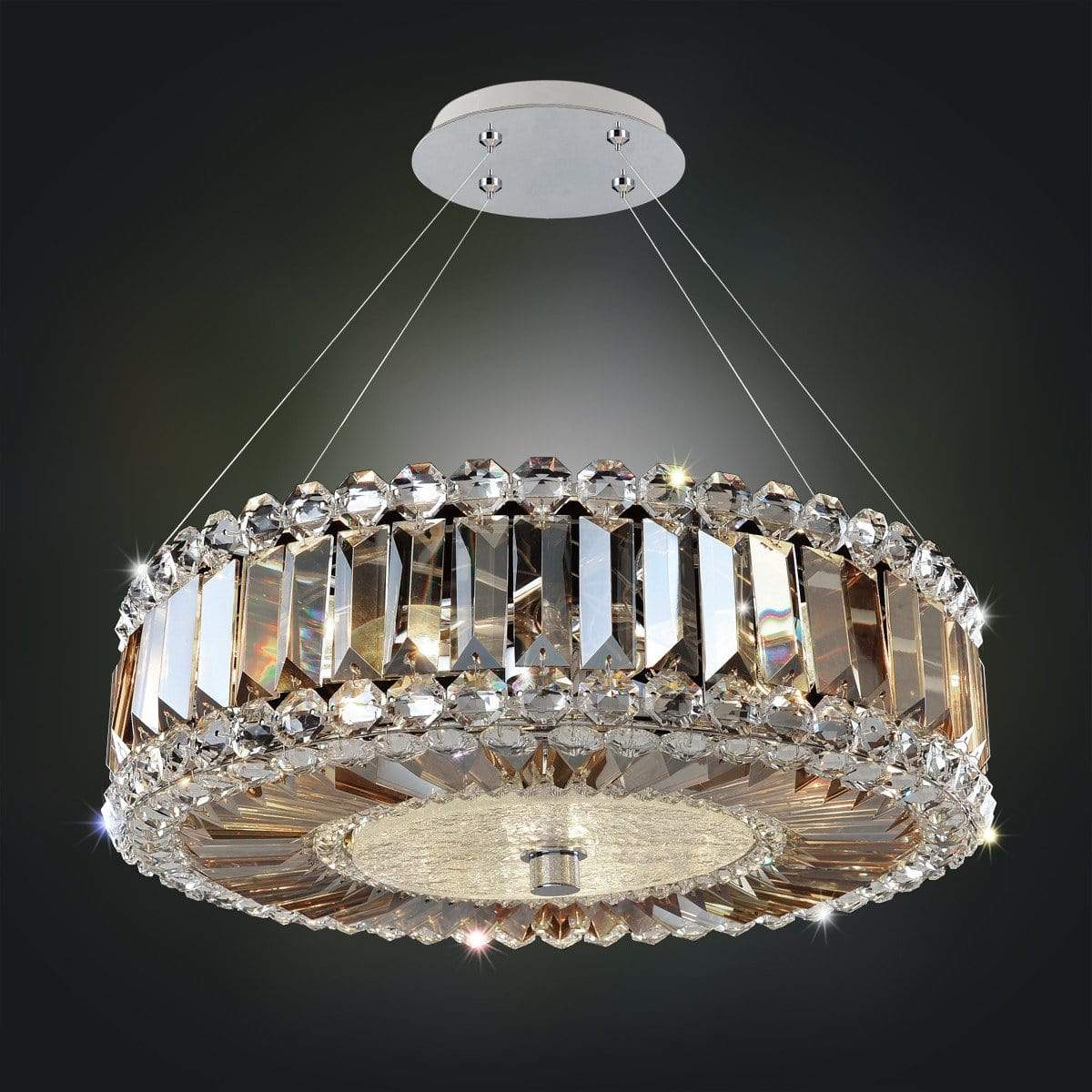 Allegri by Kalco Lighting Pendants Chrome / Firenze Fleet Gold Luxor 16 Inch Pendant From Allegri by Kalco Lighting 11740