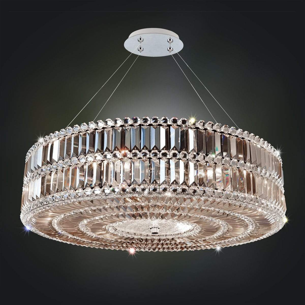 Allegri by Kalco Lighting Pendants Chrome / Firenze Fleet Gold Luxor 24 Inch Pendant From Allegri by Kalco Lighting 11741