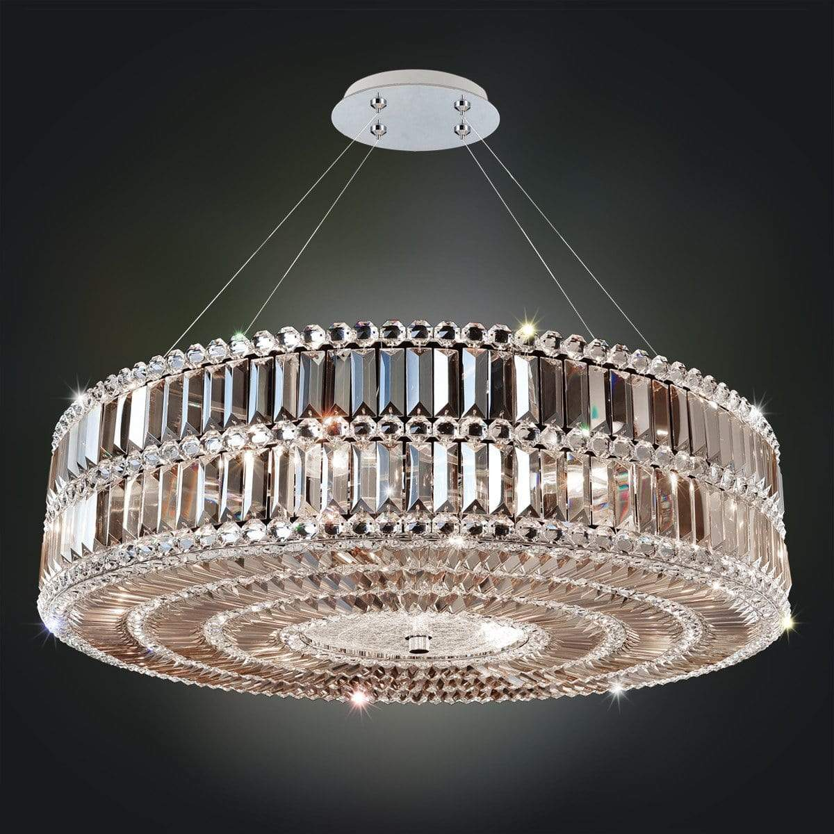Allegri by Kalco Lighting Pendants Chrome / Firenze Fleet Gold Luxor 32 Inch Pendant From Allegri by Kalco Lighting 11742