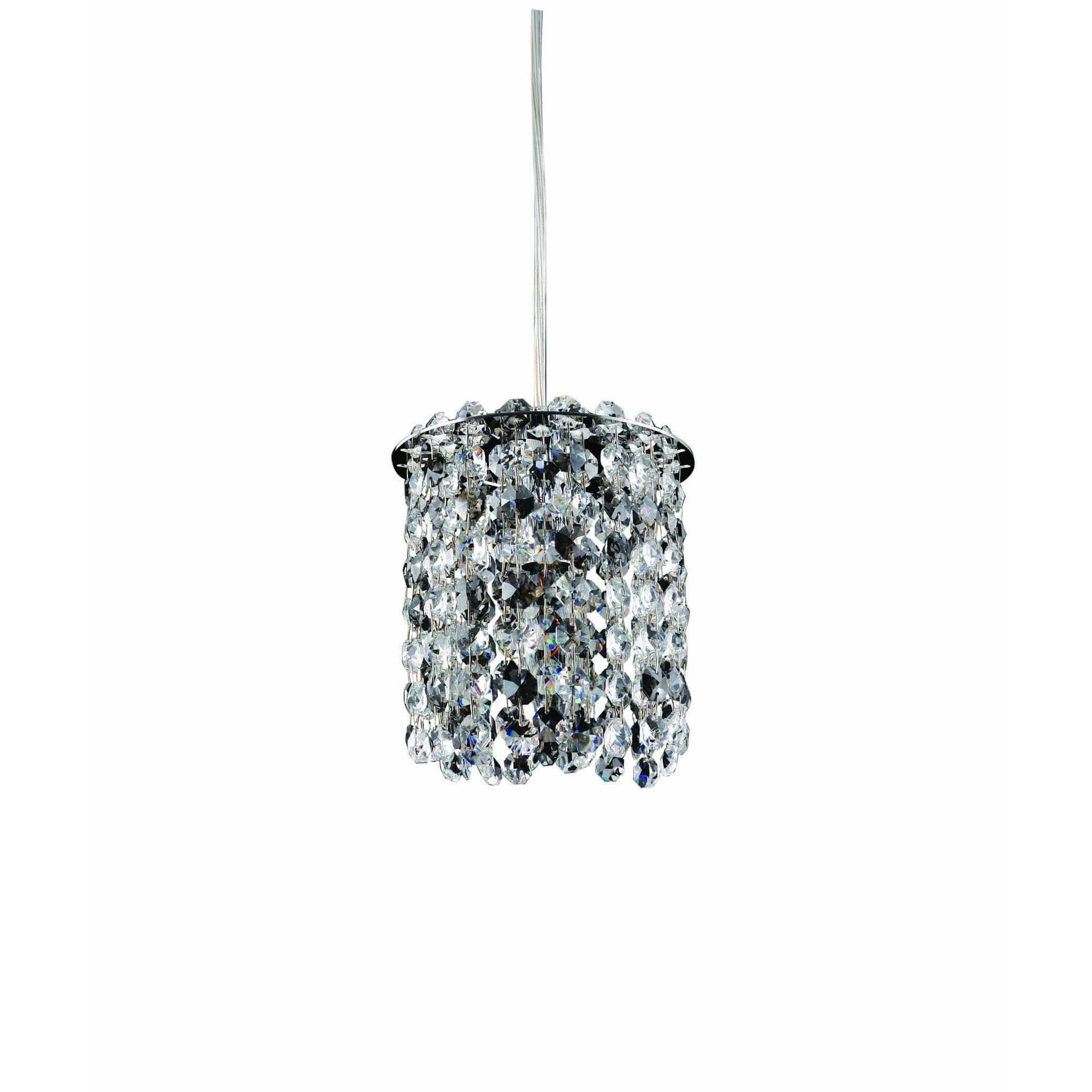 Allegri by Kalco Lighting Mini Pendants Chrome / Firenze Clear Milieu 1 Light Mini Pendant From Allegri by Kalco Lighting 11760
