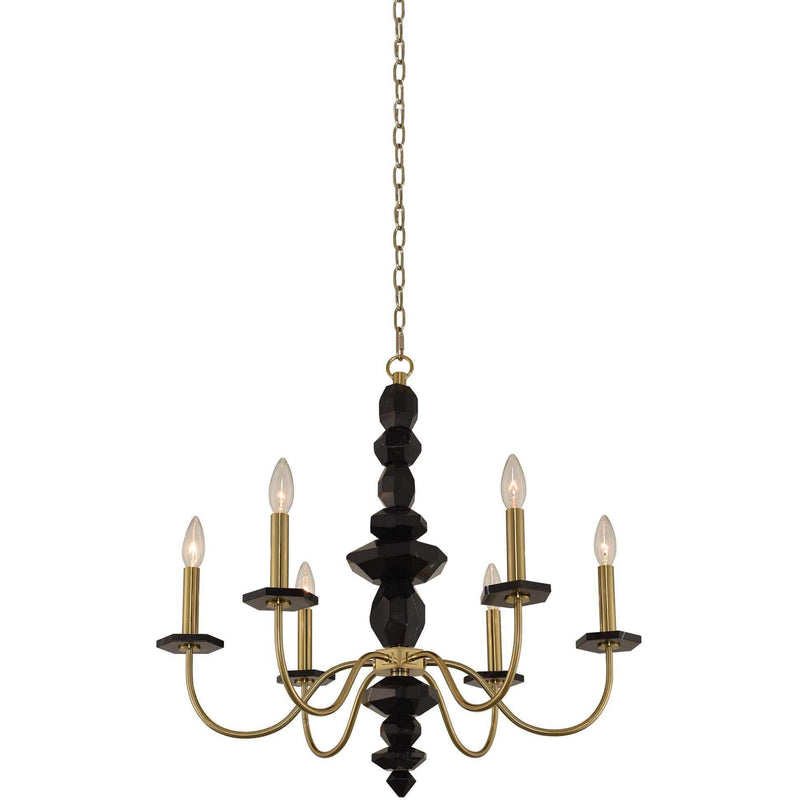 Allegri by Kalco Lighting Chandeliers Brushed Brass / N/A Piedra 6 Light Chandelier From Allegri by Kalco Lighting 031550