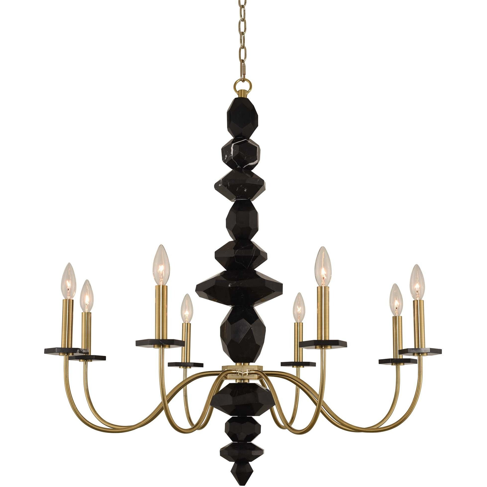 Allegri by Kalco Lighting Chandeliers Brushed Brass / N/A Piedra 8 Light Chandelier From Allegri by Kalco Lighting 031551