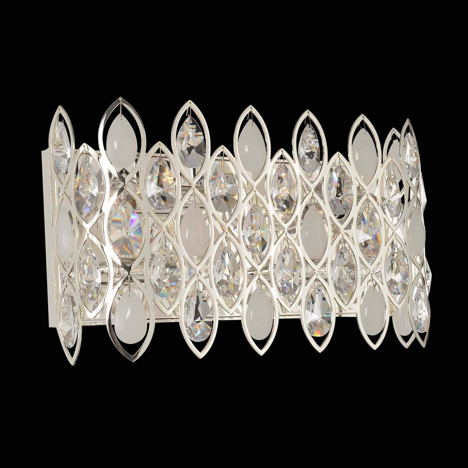 Allegri by Kalco Lighting Wall Sconces Silver / Firenze Clear Prive 16 Inch Bath Light From Allegri by Kalco Lighting 028722