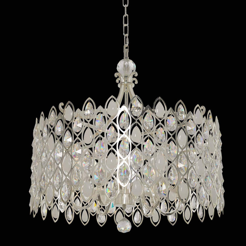 Allegri by Kalco Lighting Pendants Two Tone Silver / Firenze Clear Prive 26 Inch Pendant From Allegri by Kalco Lighting 028753