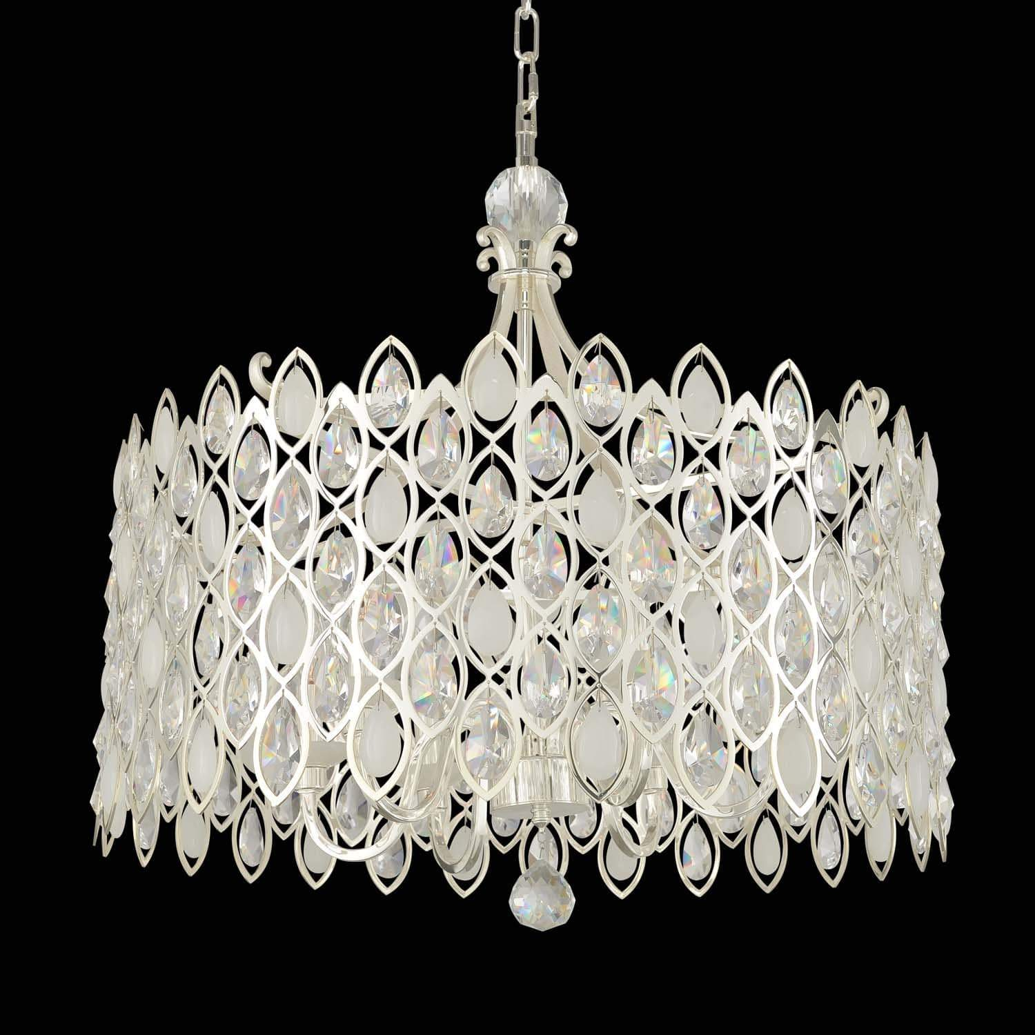 Allegri by Kalco Lighting Pendants Two Tone Silver / Firenze Clear Prive 34 Inch Pendant From Allegri by Kalco Lighting 028754