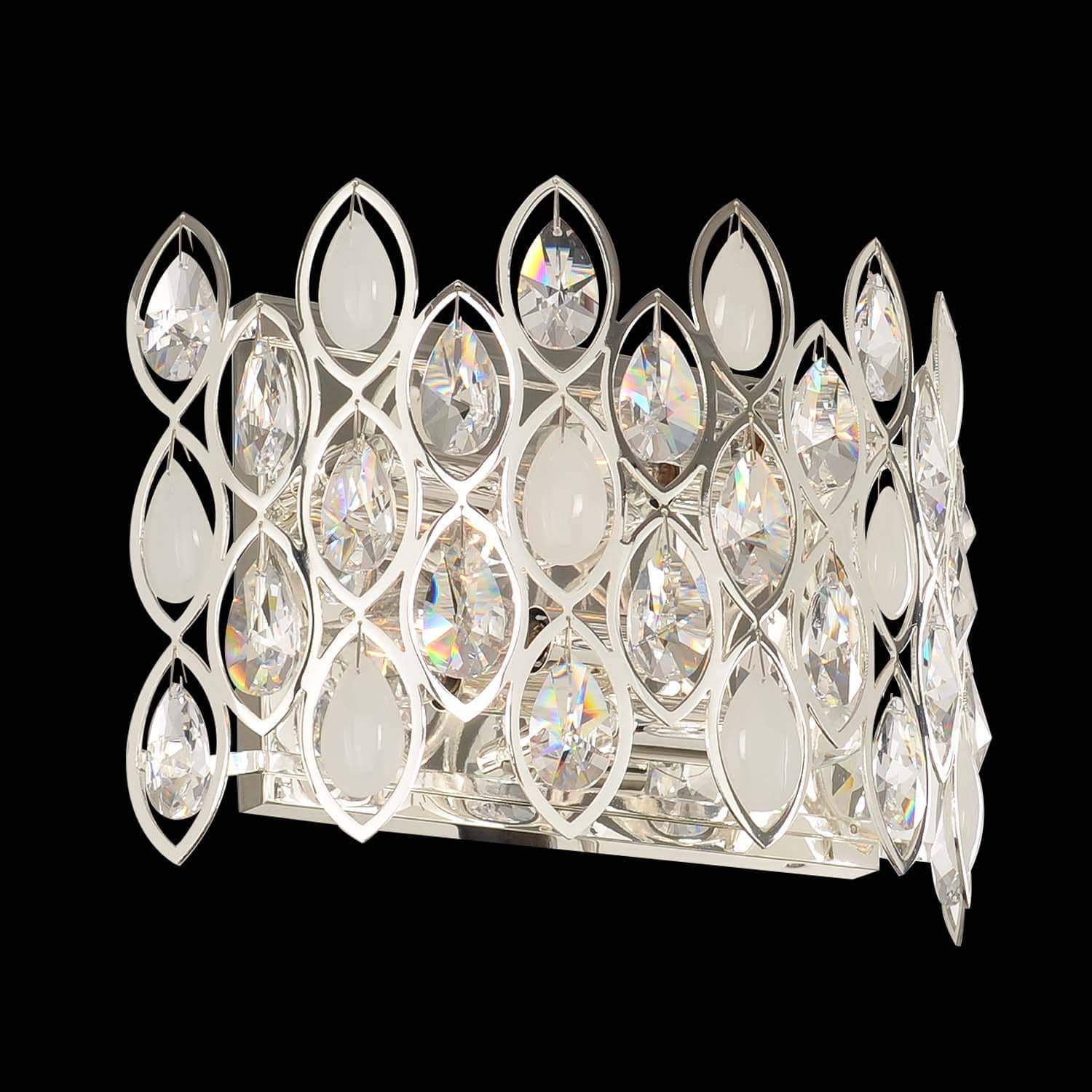 Allegri by Kalco Lighting Wall Sconces Silver / Firenze Clear Prive 4 Light Wall Bracket (Horizontal) From Allegri by Kalco Lighting 028721