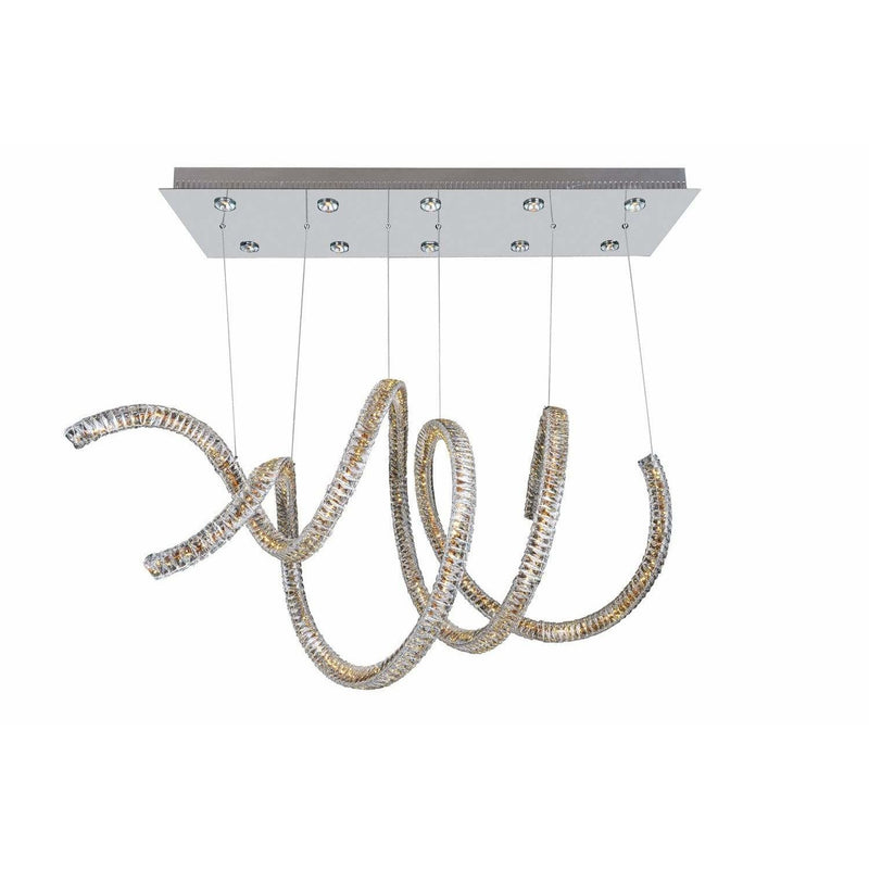 Allegri by Kalco Lighting Chandeliers Chrome / Firenze Clear Ravina 10 Light + LED Convertible Pendant - Flush Mount From Allegri by Kalco Lighting 11804