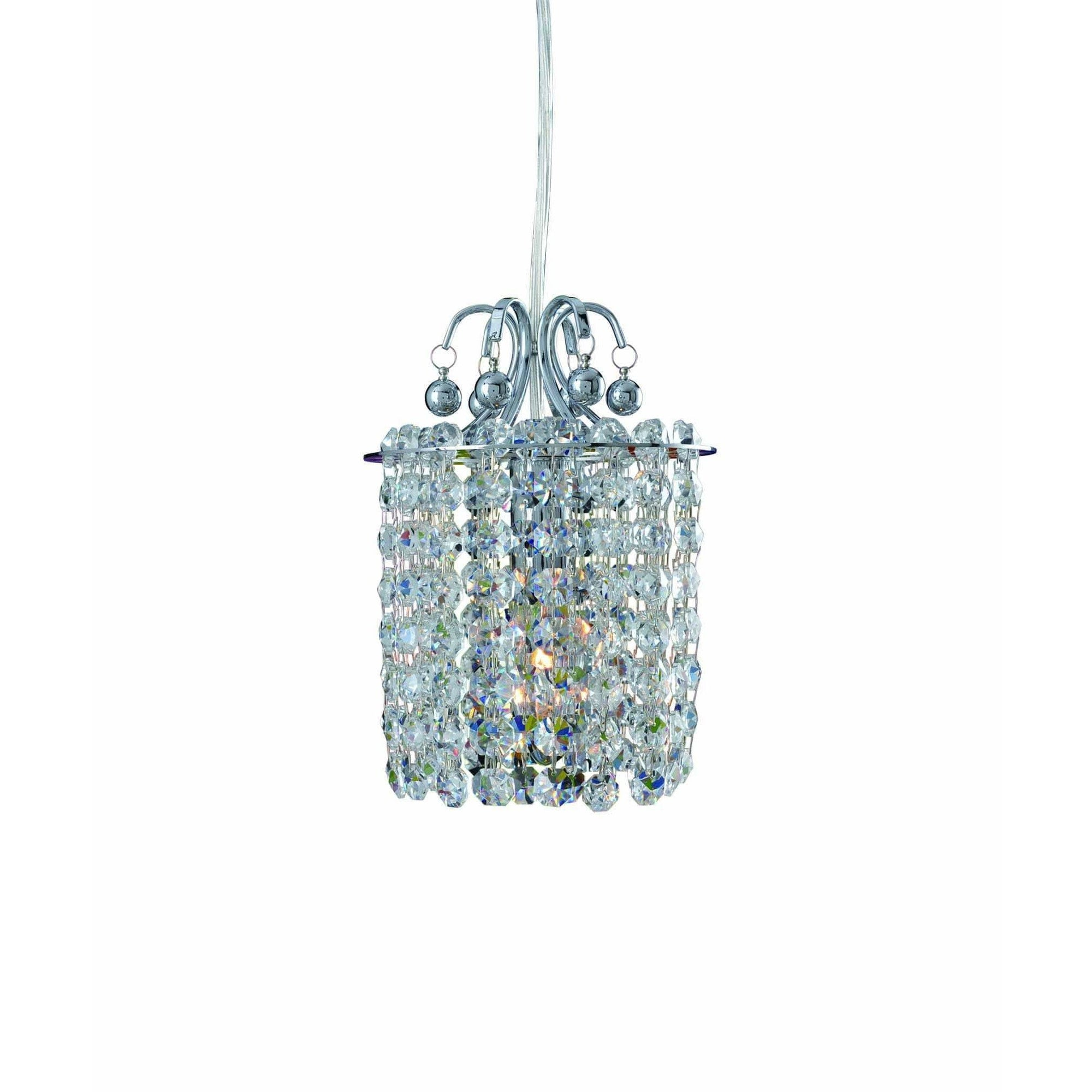Allegri by Kalco Lighting Pendants Chrome / Firenze Clear Rondelle 47 Inch 3 Tier Pendant From Allegri by Kalco Lighting 11770