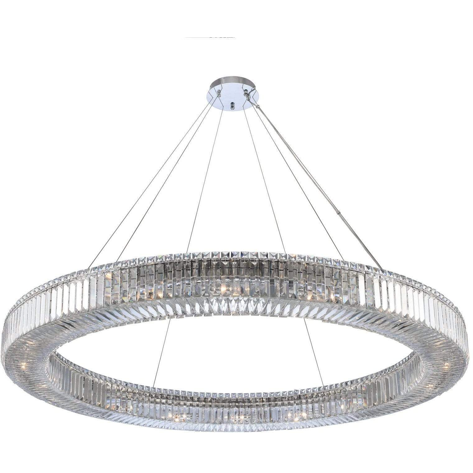 Allegri by Kalco Lighting Pendants Chrome / Firenze Clear Rondelle 60 Inch Pendant From Allegri by Kalco Lighting 11713