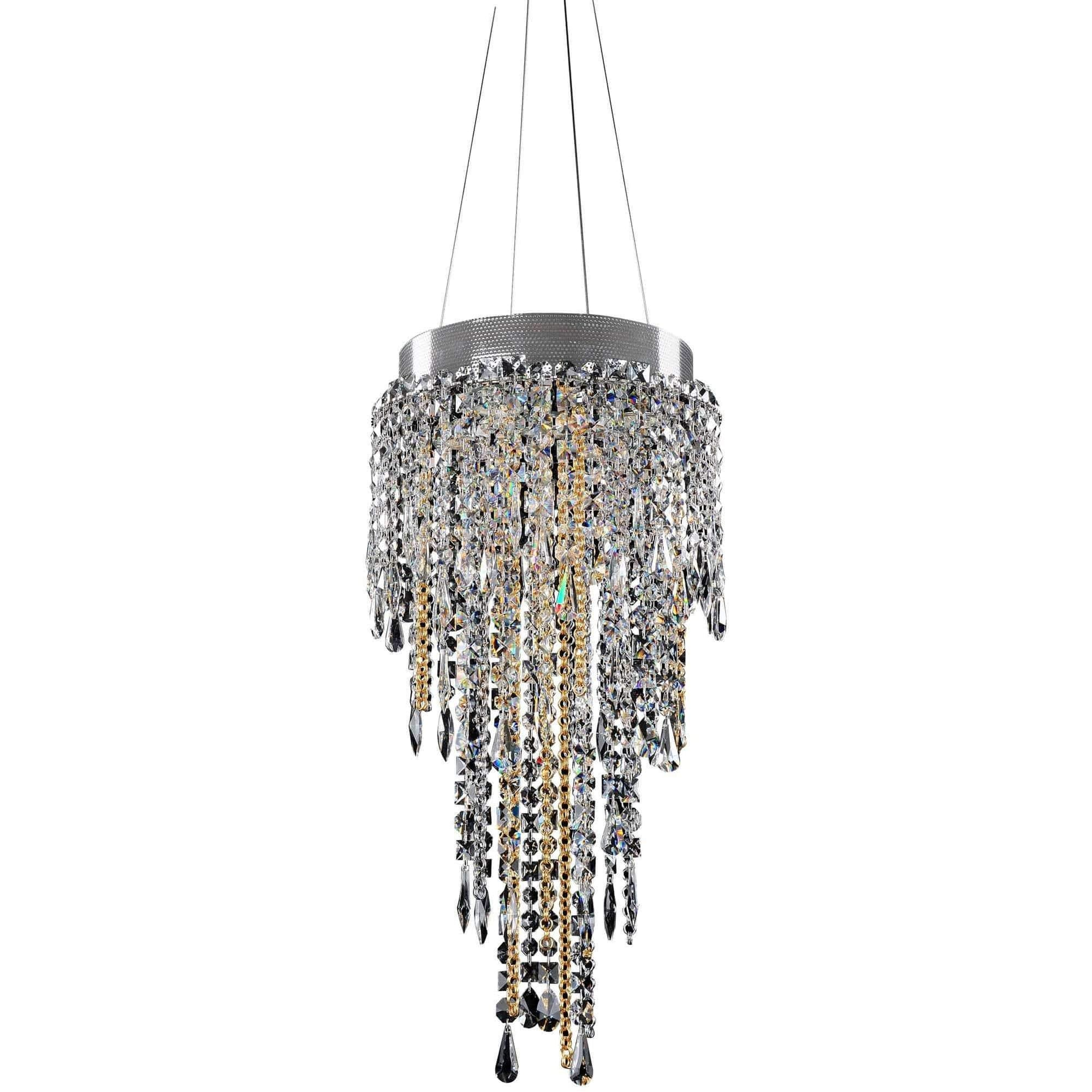 Allegri by Kalco Lighting Pendants Chrome / Firenze Clear Tenuta 14 Inch Convertible Pendant - Flush Mount From Allegri by Kalco Lighting 028250