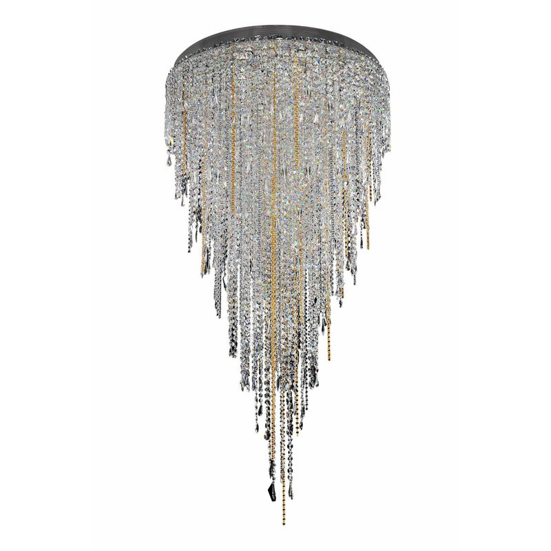 Allegri by Kalco Lighting Pendants Chrome / Firenze Clear Tenuta 36 Inch Convertible Pendant - Flush Mount From Allegri by Kalco Lighting 028253