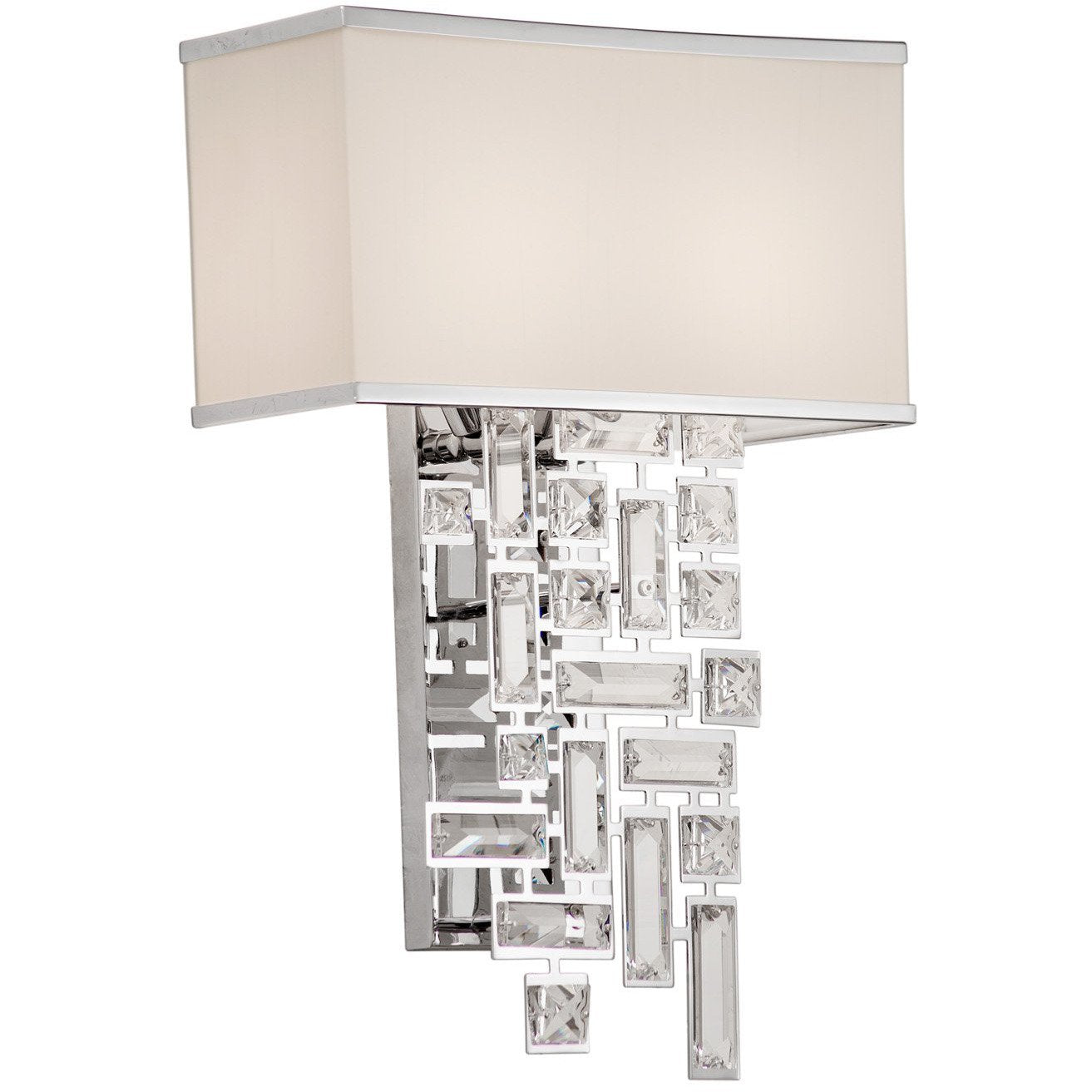 Allegri by Kalco Lighting Wall Sconces Chrome / Firenze Clear Vermeer 2 Light Wall Bracket From Allegri by Kalco Lighting 11190