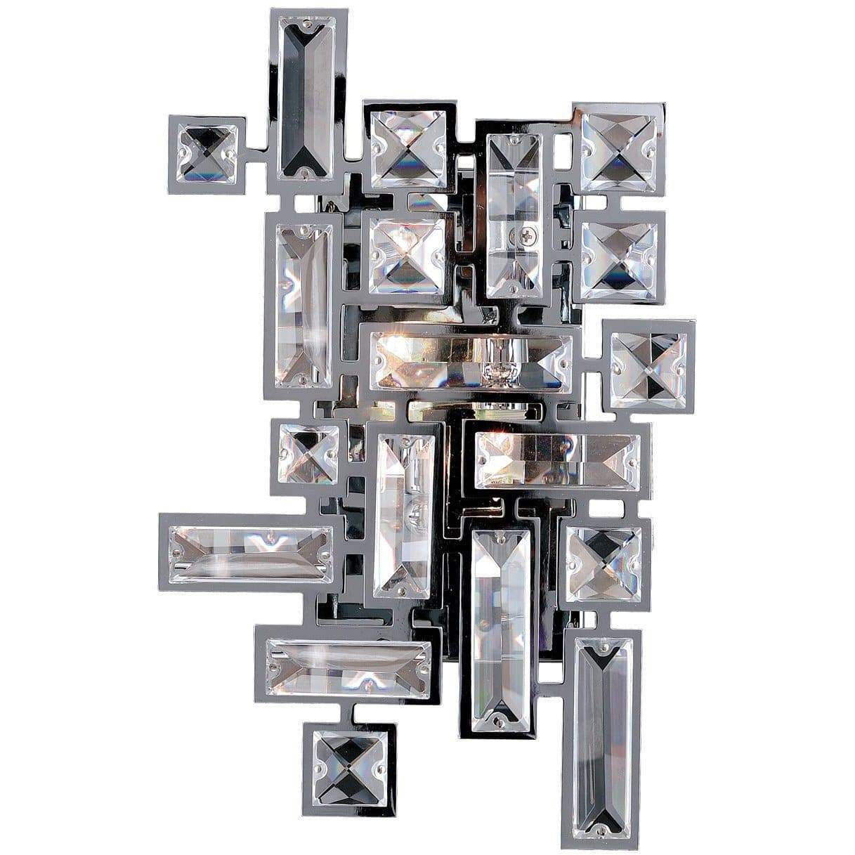 Allegri by Kalco Lighting Wall Sconces Chrome / Firenze Clear Vermeer 2 Light Wall Bracket From Allegri by Kalco Lighting 11191